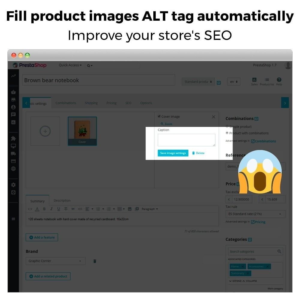 module - SEO - Automatic image ALT tag - Image SEO - 2