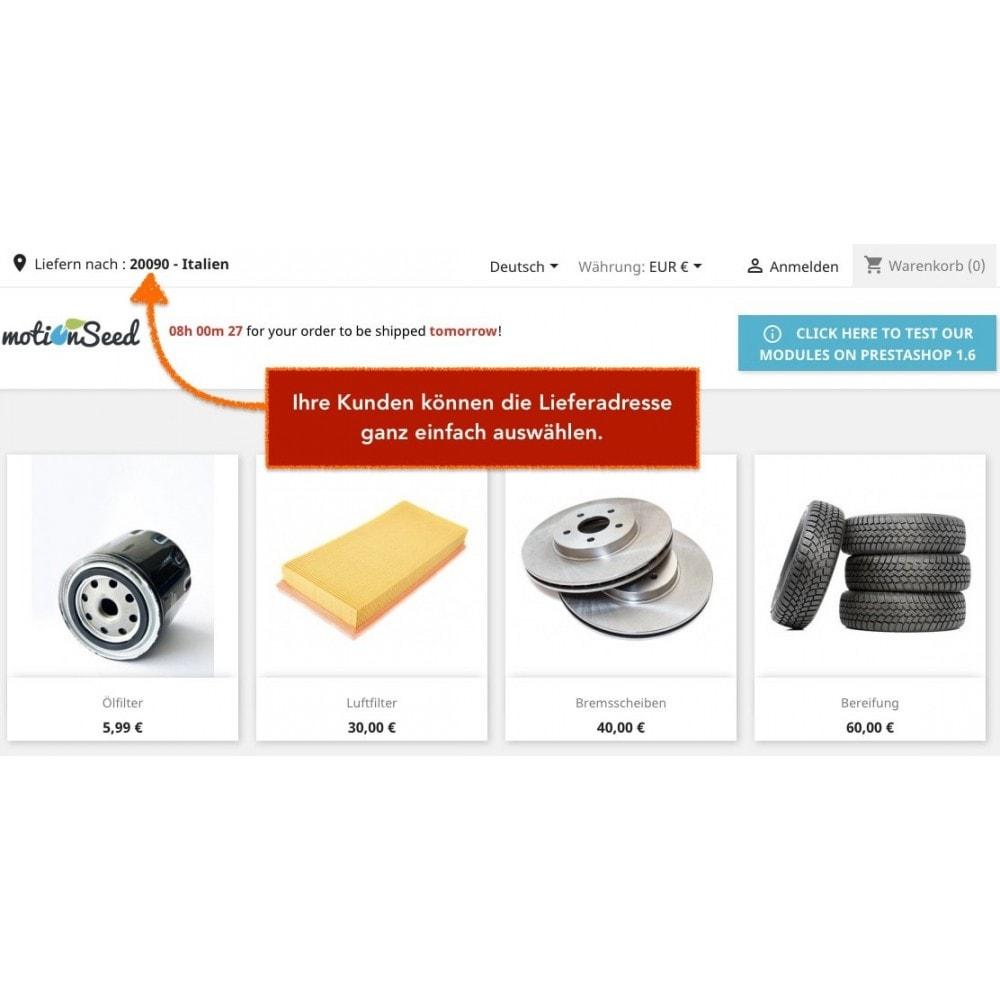 module - Versandkosten - Lieferadresse - Wählen Sie die Lieferadresse - 2