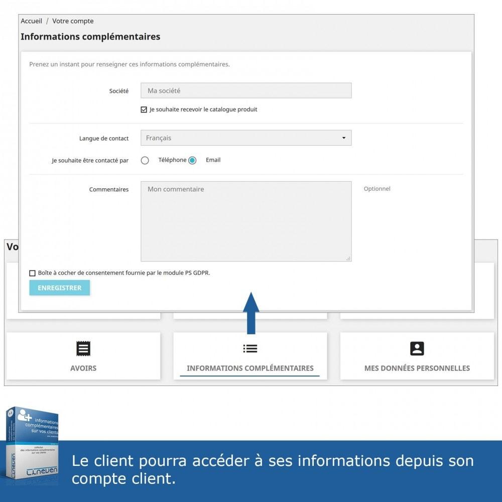module - Inscription & Processus de commande - Informations Complémentaires sur vos Clients - 5