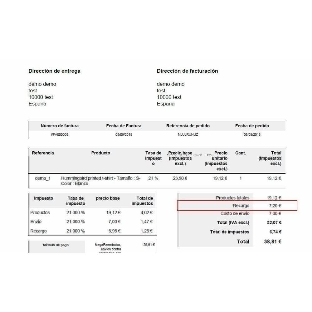 module - Pago a la Entrega (contrarrembolso) - Pago contrareembolso con recargo y limitaciones - 4