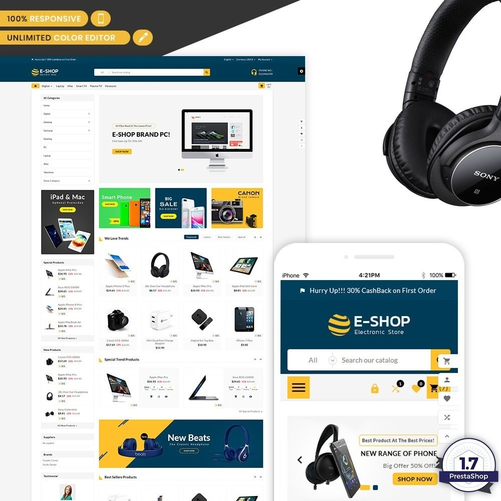 E Shop – Electronic Multi Store Shop