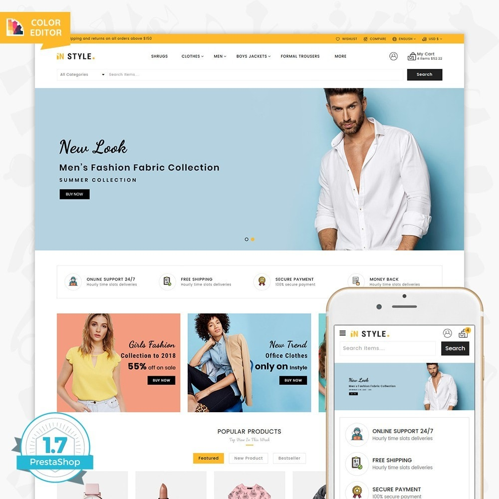 theme - Fashion & Shoes - InStyle Shop Store - 1