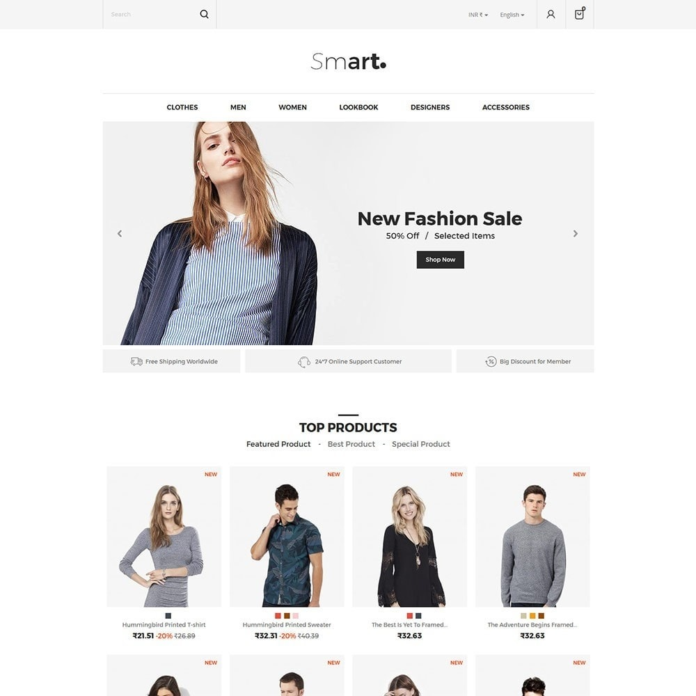 theme - Fashion & Shoes - Smart Designer - Fashion Store - 2