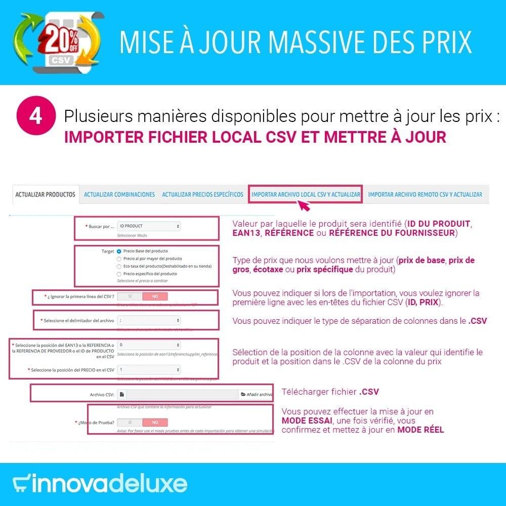 module - Edition rapide & Edition de masse - Mise à jour globale des prix - 5