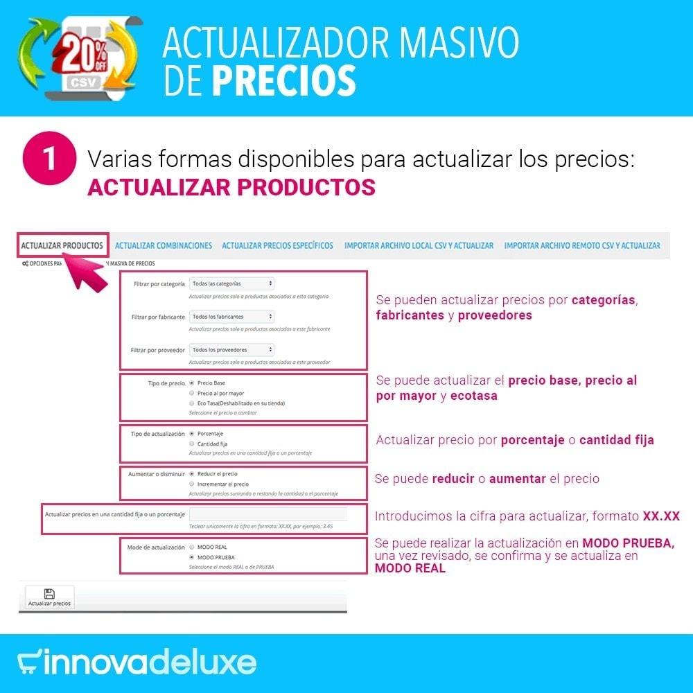 module - Edición Rápida y Masiva - Actualizador masivo de precios - 2