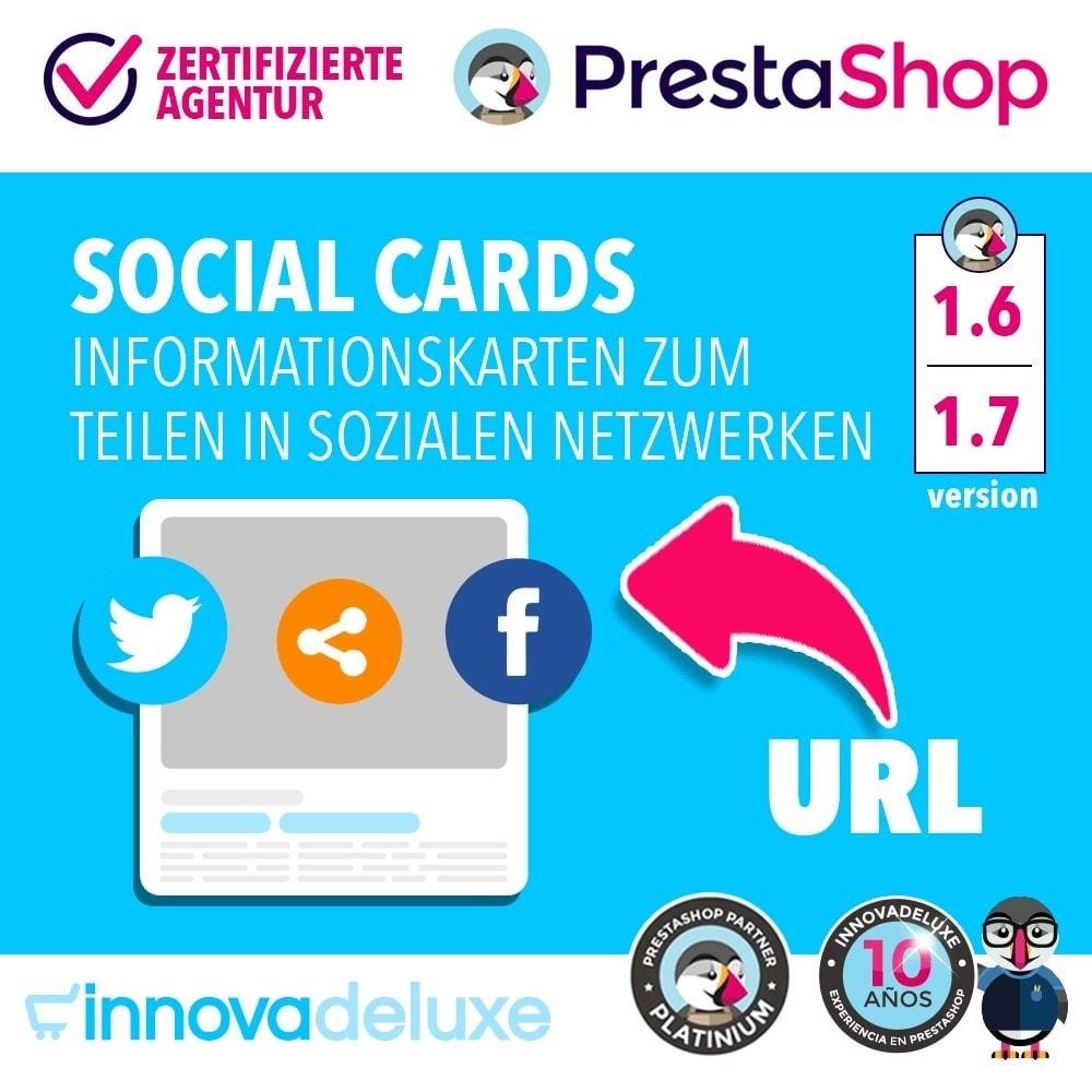 module - Teilen & Kommentieren - SocialCards, Karten zum Teilen in sozialen Netzwerken - 1