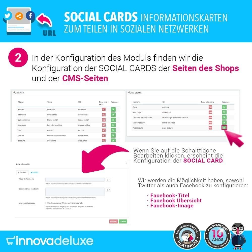 module - Teilen & Kommentieren - SocialCards, Karten zum Teilen in sozialen Netzwerken - 3