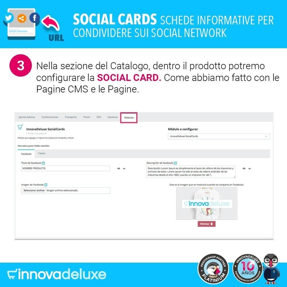 module - Pulsanti di condivisione & Commenti - SocialCards, schede per condividere sui social network - 4
