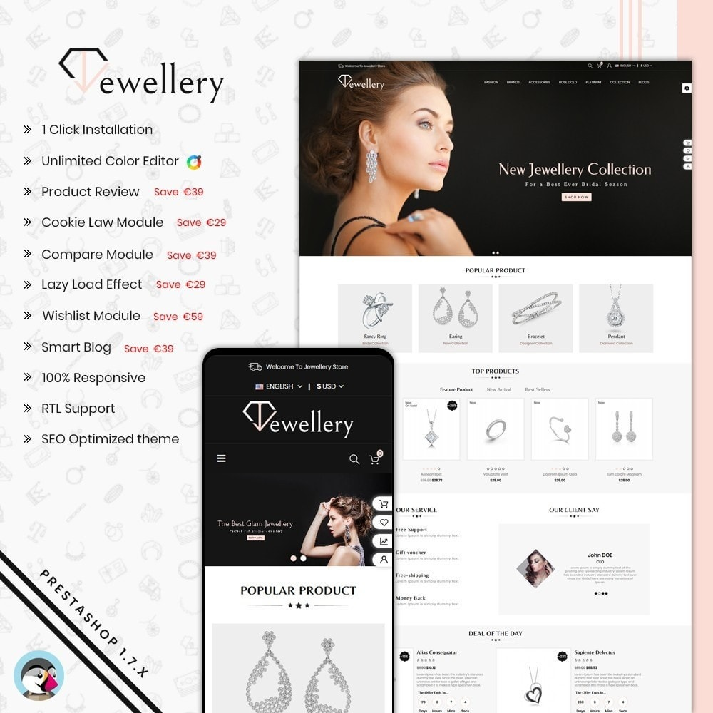 theme - Bijoux & Accessoires - Jewellery Shop - 1