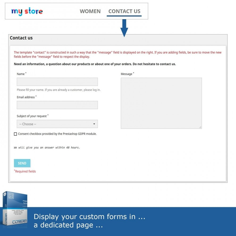 module - Contact Forms & Surveys - Forms builder - Customizable & Threads - 2