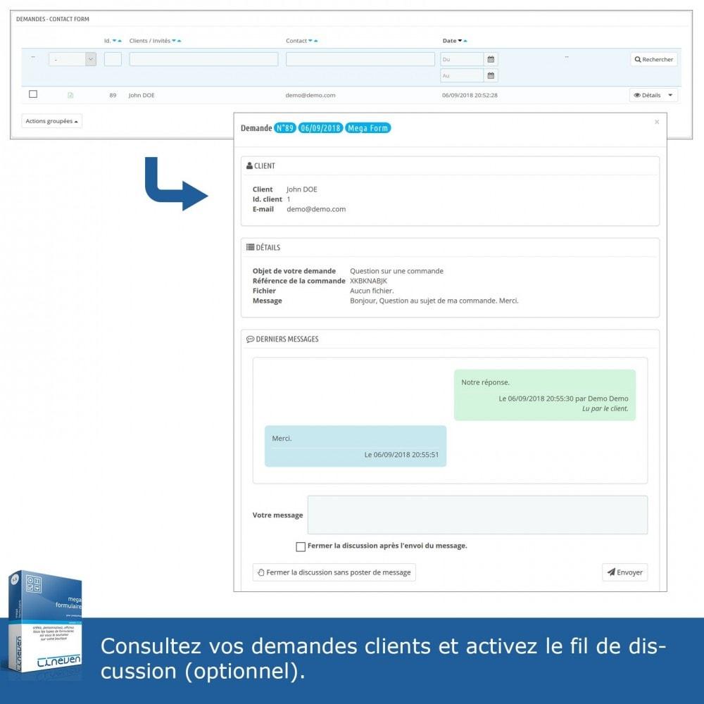 module - Formulaires de Contact & Sondages - Générateur de formulaires avancés & Fils de discussions - 7
