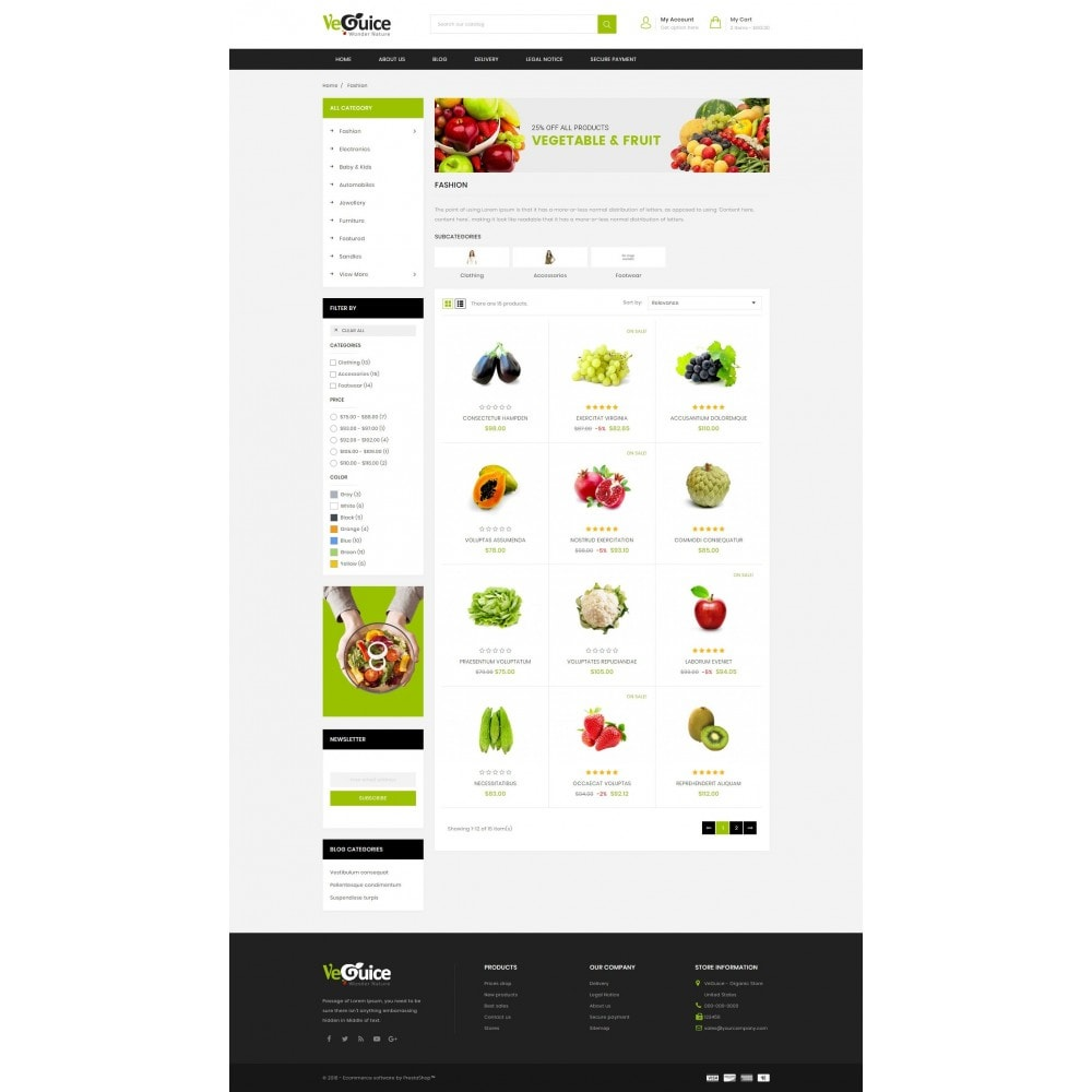 theme - Food & Restaurant - VeGuice - Organic Store - 3