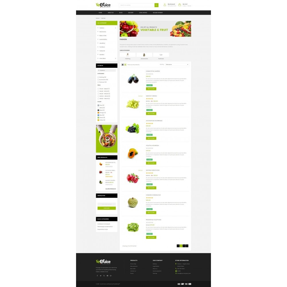 theme - Food & Restaurant - VeGuice - Organic Store - 4