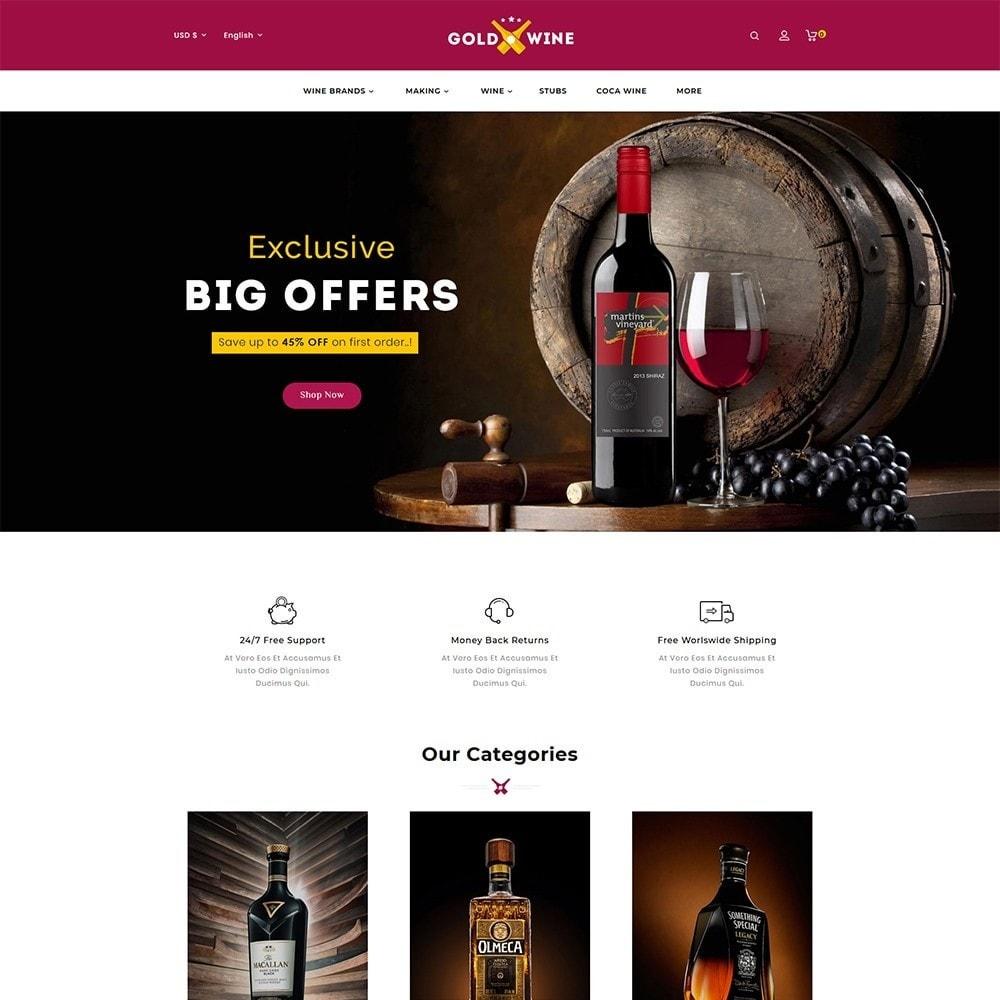 theme - Napoje & Wyroby tytoniowe - Gold Wine Store - 2