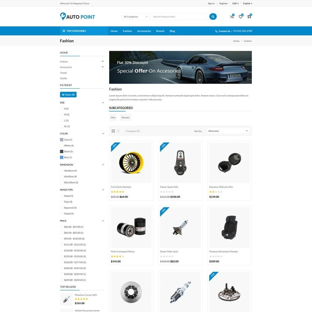 theme - Automotive & Cars - AutoPoint Store - 3