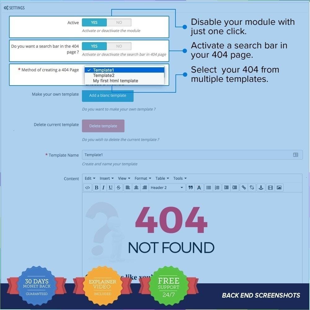 module - Personalización de la página - Página Personalizada 404 - 4