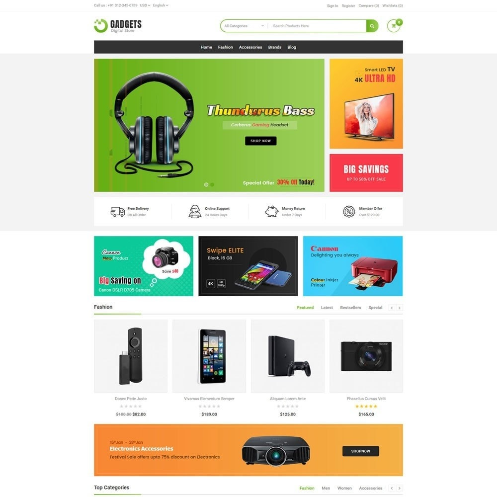 theme - Elektronica & High Tech - Gadgets Digital Store - 2
