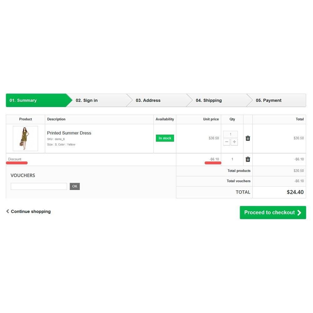 module - Акции и Подарки - Discount Voucher in URL - 3