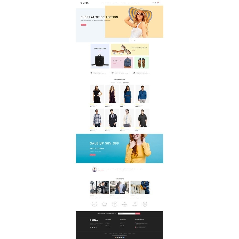 theme - Fashion & Shoes - G-Litza Fashion Store - 2