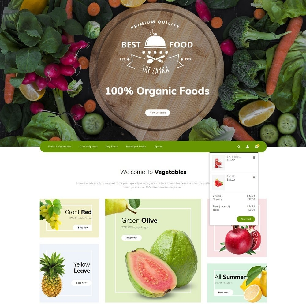 theme - Alimentos & Restaurantes - Best Food Store - 8