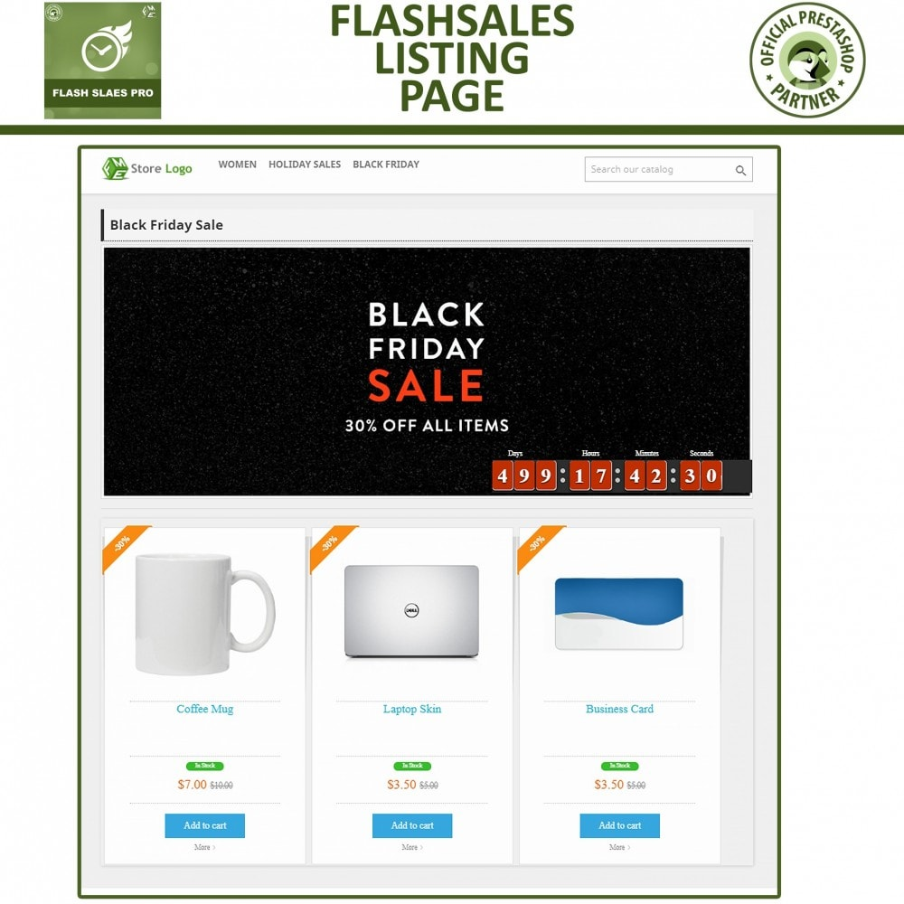 module - Flash & Private Sales - Flash Sales Pro - Werbeverkauf mit Countdown-Timer - 5