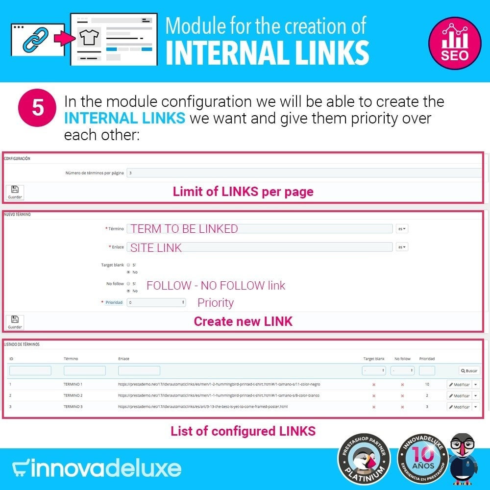 module - SEO - Automatic internal link generation for SEO - 6