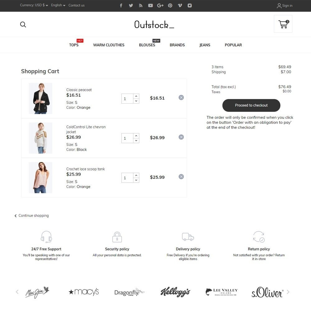 theme - Fashion & Shoes - Outstock Fashion Store - 7