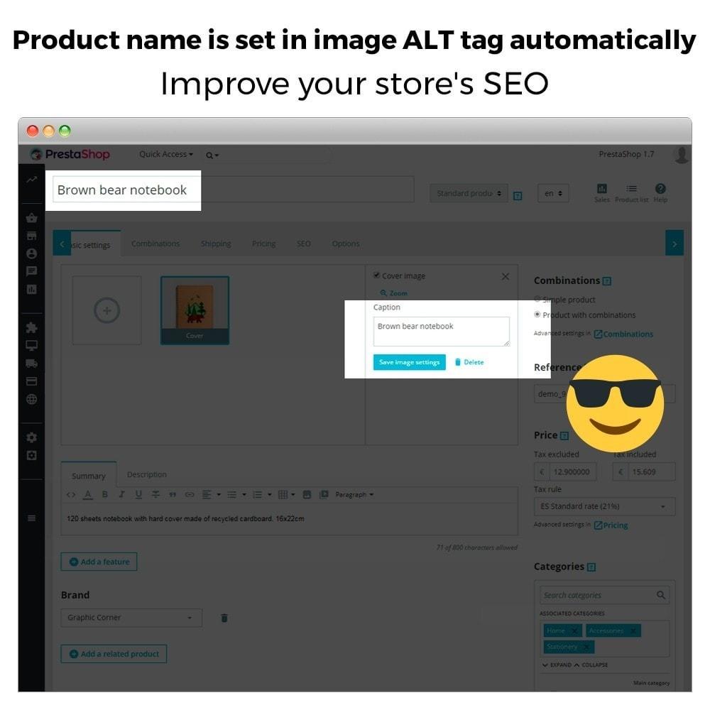module - SEO - Automatic image ALT tag - Image SEO - 3