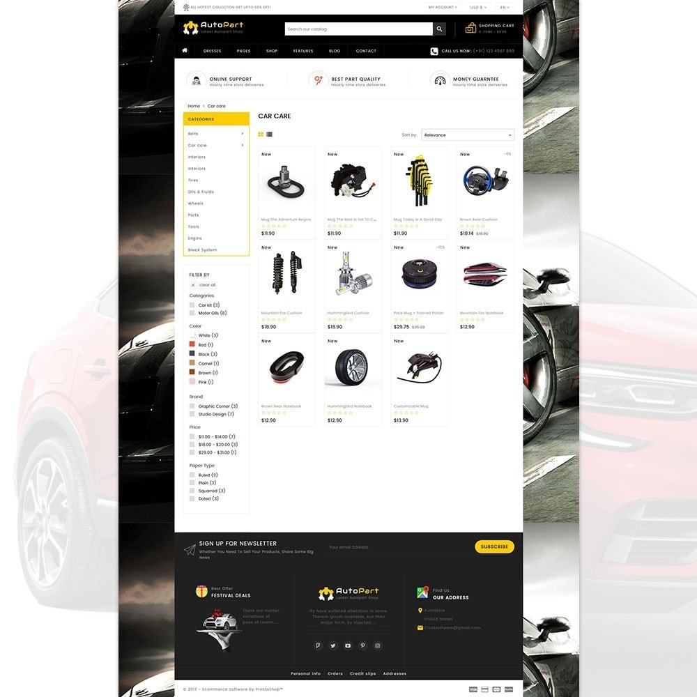 theme - Automotive & Cars - Autopart - Cars & Automotive Store - 3