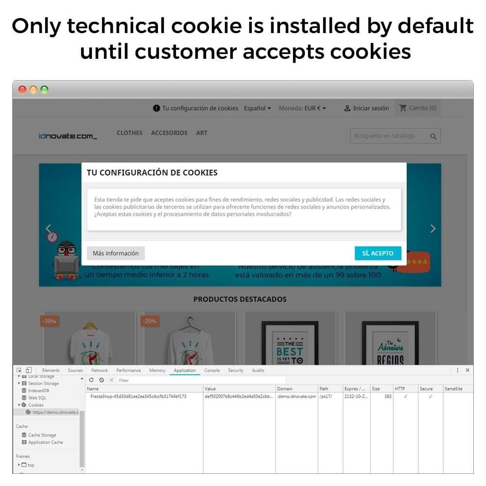 module - Legal - GDPR Cookies Law (block cookies) - 2019 update - 7