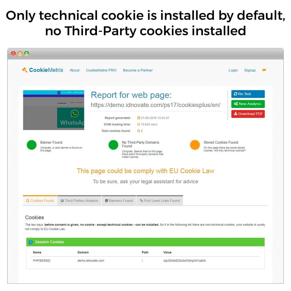 module - Rechtssicherheit - GDPR Cookies Law (block third party cookies) - 8