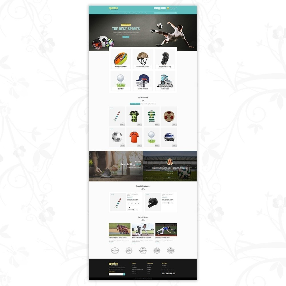 theme - Sport, Loisirs & Voyage - Spartan Sports Store - 2