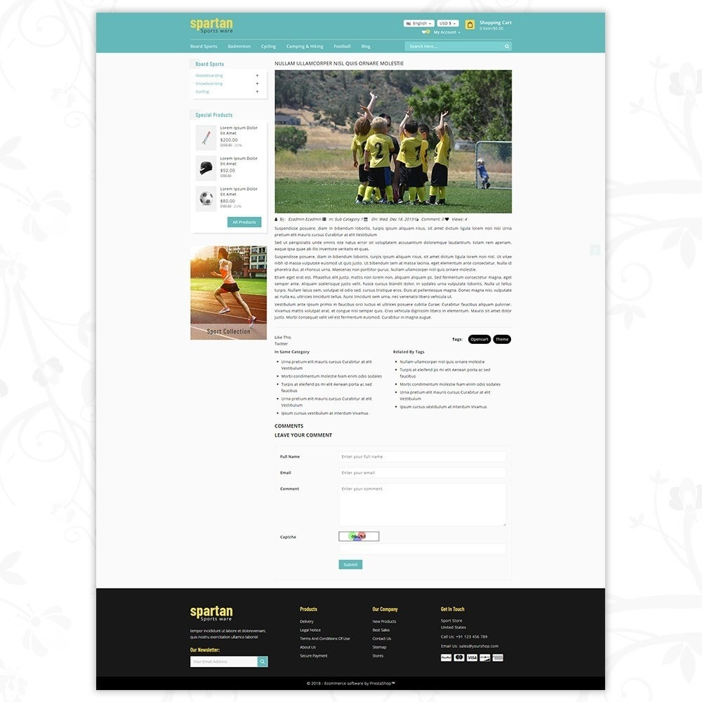 theme - Sport, Loisirs & Voyage - Spartan Sports Store - 8
