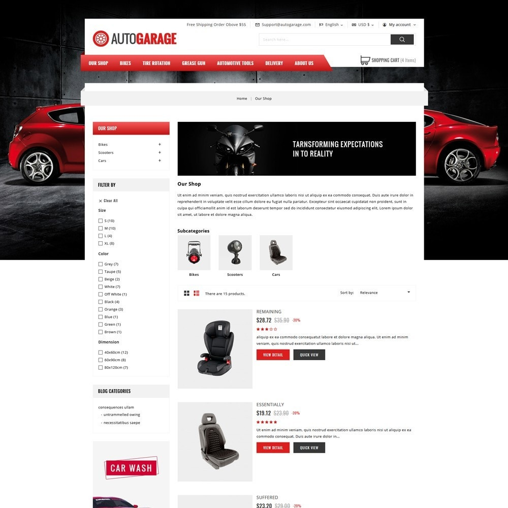 theme - Carros & Motos - Autogarage - The Automobile Shop - 4