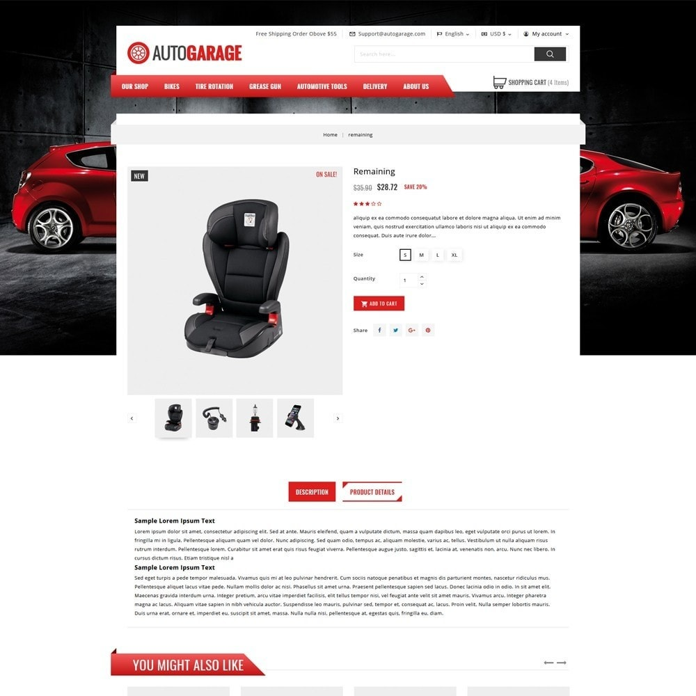 theme - Automotive & Cars - Autogarage - The Automobile Shop - 5