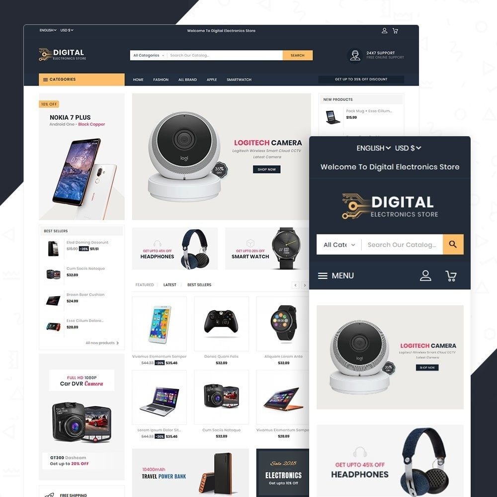 theme - Elektronika & High Tech - Digital Electronics Store - 1