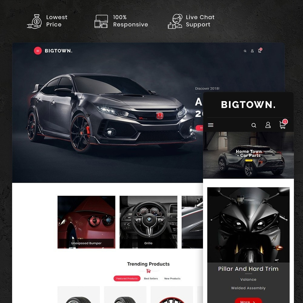 theme - Automotive & Cars - BigTown Auto Parts - 1