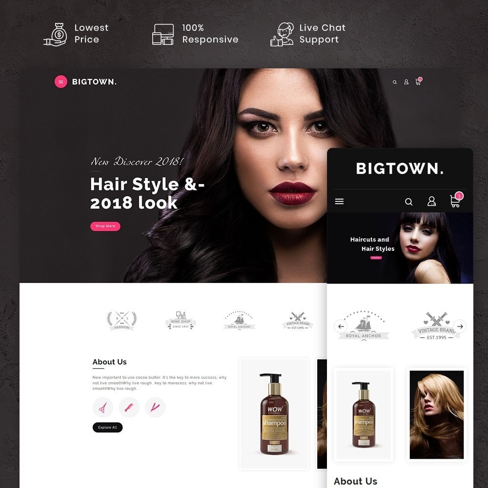 theme - Health & Beauty - BigTown Hair Therapy - 1