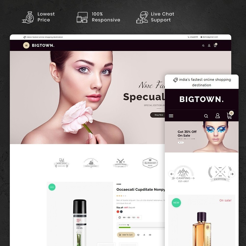 theme - Health & Beauty - BigTown Beauty Cosmetics - 1