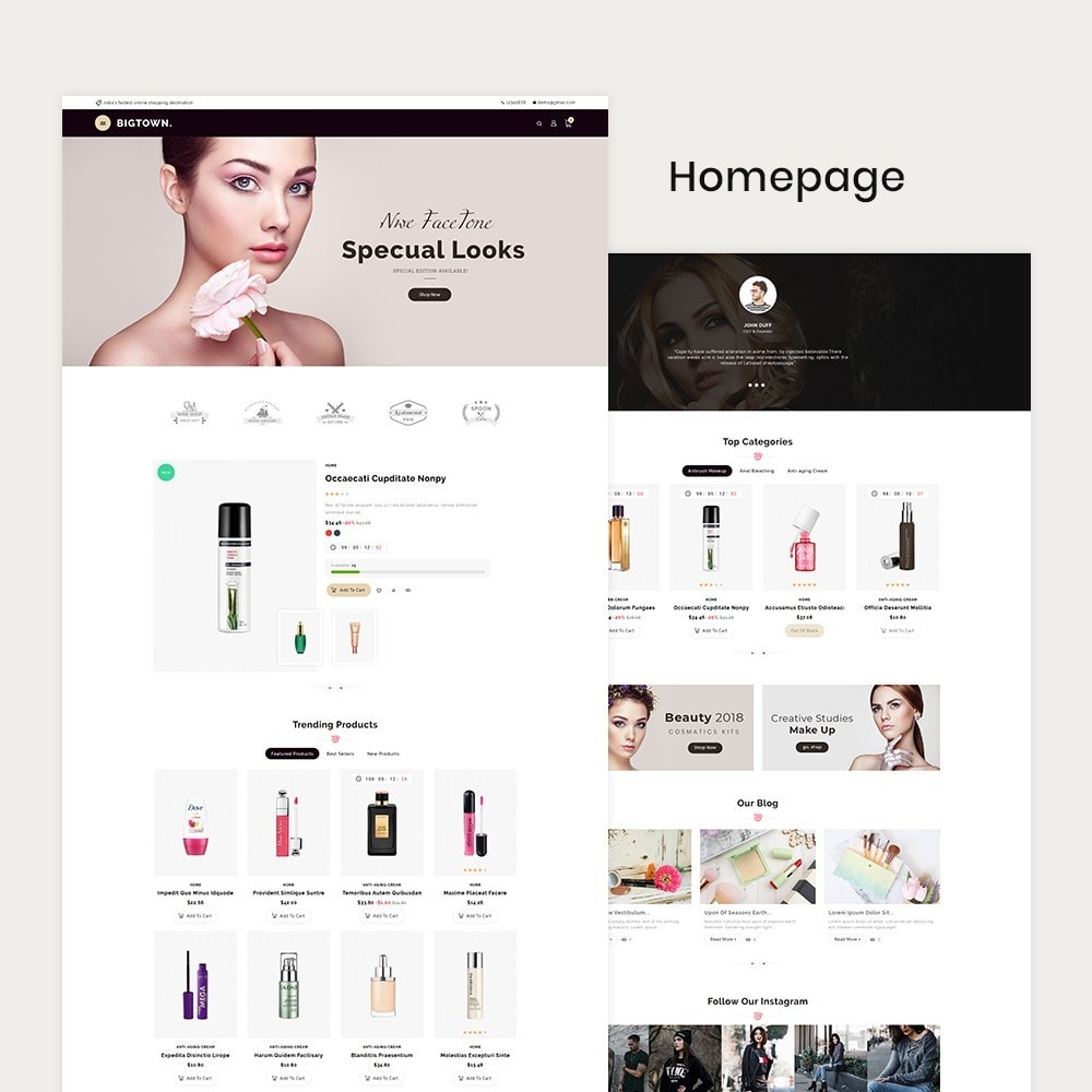 theme - Health & Beauty - BigTown Beauty Cosmetics - 2