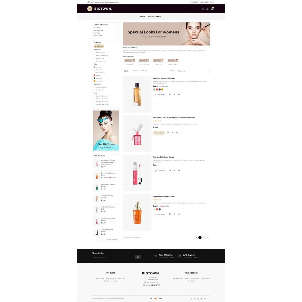 theme - Health & Beauty - BigTown Beauty Cosmetics - 4