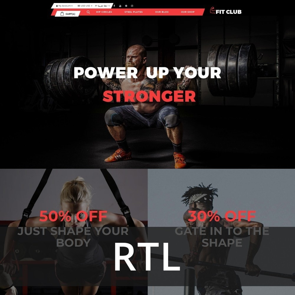 Fitclub - Online Gym Store