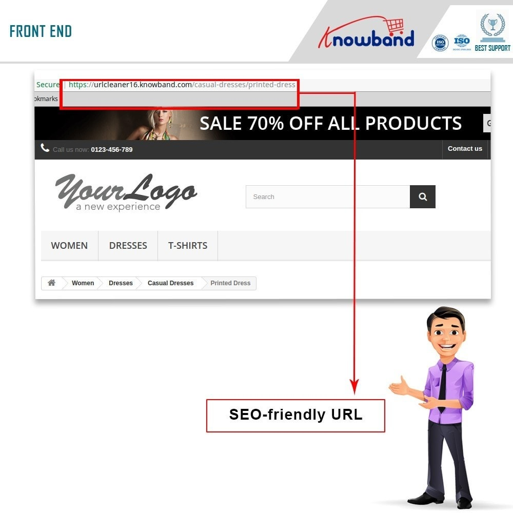 module - URL y Redirecciones - Knowband - SEO Pro - Clean URLs & 301/302/303 Redirects - 2