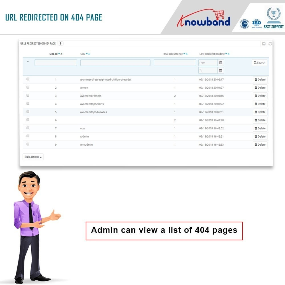 module - URL y Redirecciones - Knowband - SEO Pro - Clean URLs & 301/302/303 Redirects - 6