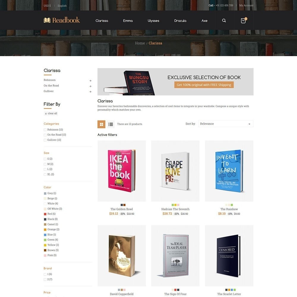 theme - Arte e Cultura - Readbook - Book Store - 2