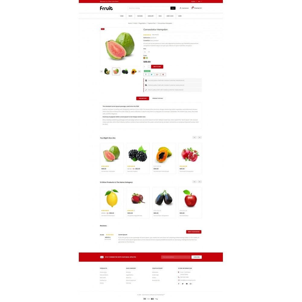theme - Alimentation & Restauration - Fresh Fruits Store - 5