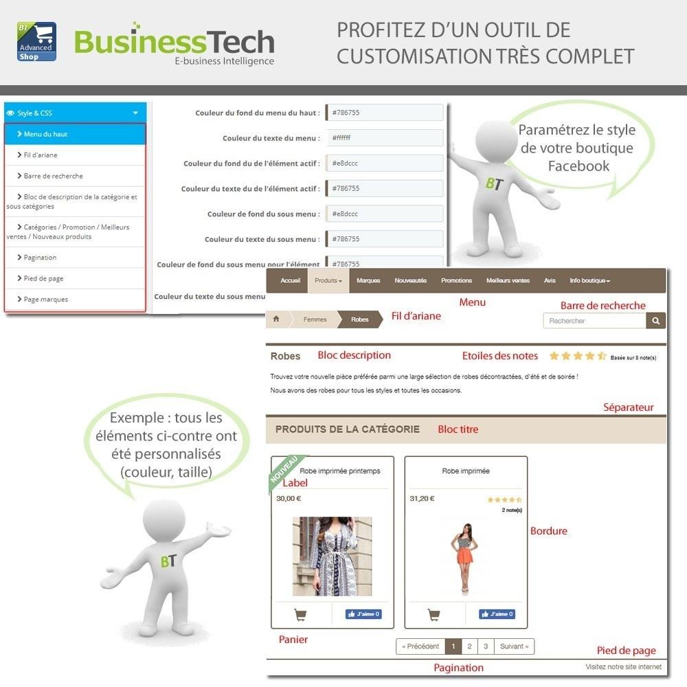 module - Produits sur Facebook & réseaux sociaux - Advanced Shop for Fan Page - 11