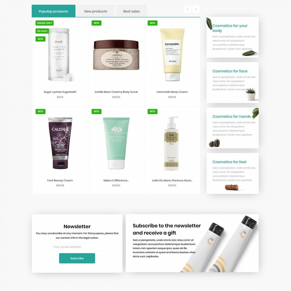 theme - Health & Beauty - Trillium Cosmetics - 3