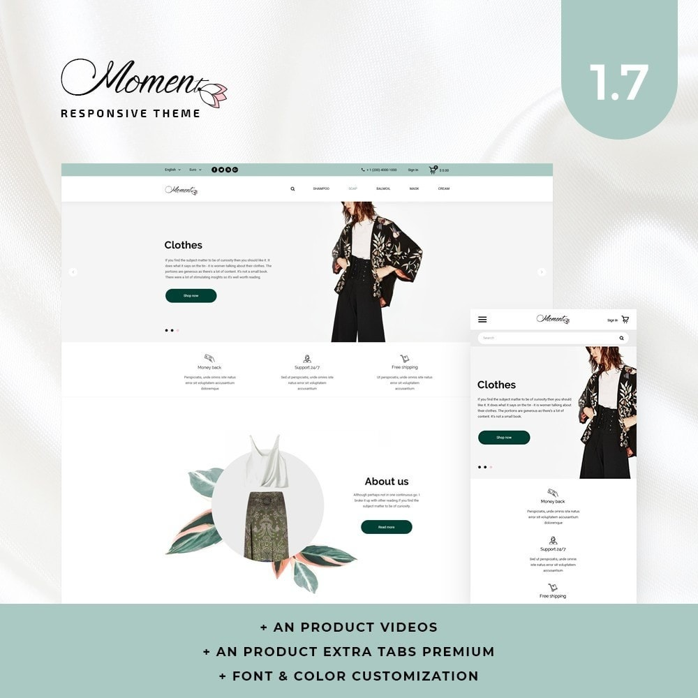 theme - Fashion & Shoes - Moment Fashion Store - 1