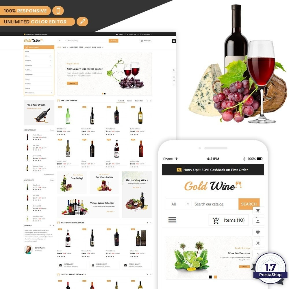 Gold Wine - Wine and Drink Shop